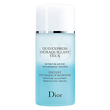 Buy Dior Instant Eye Makeup Remover, 125ml Online at johnlewis.com