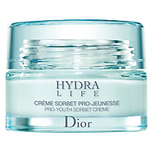 Buy Dior Hydra Life Pro-Youth Sorbet Cream, 50ml Online at johnlewis.com