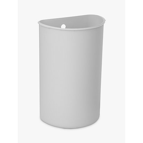 Buy simplehuman Deluxe Semi-Round Pedal Bin, White, 10L Online at johnlewis.com