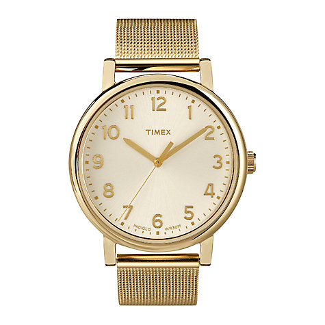 Buy Timex T2N598 Originals Men's Round Gold Bracelet Watch Online at johnlewis.com