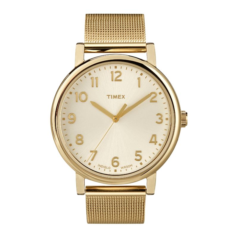 Timex T2N598 Originals Men's Round Gold Bracelet Watch