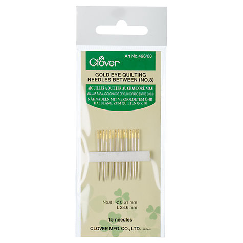 Buy Clover Gold Eye Quilting Needles, Sizes 8-12 Online at johnlewis.com