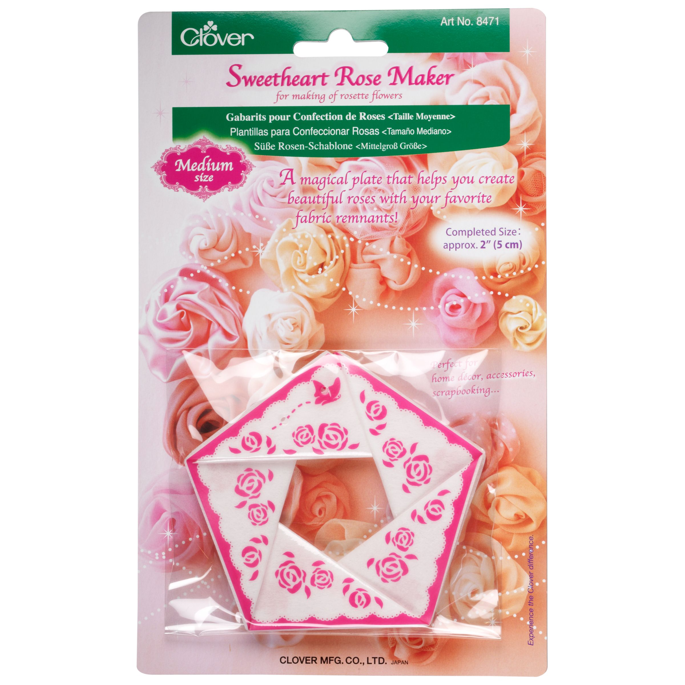 Cloverleaf Clover Sweetheart Rose Maker, Medium
