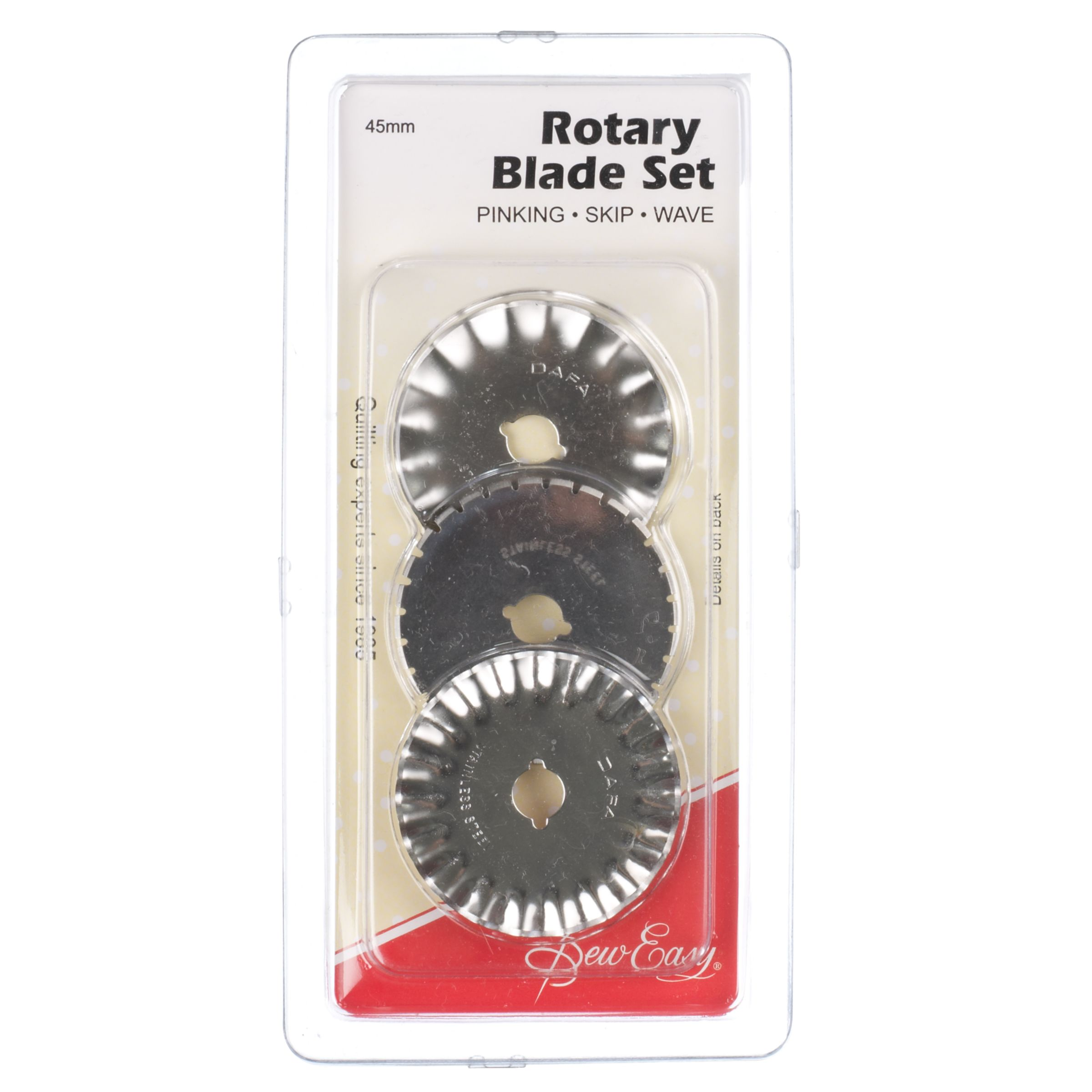 Sew Easy Sew Easy Rotary Blade Set: Pinking, Skip and Wave