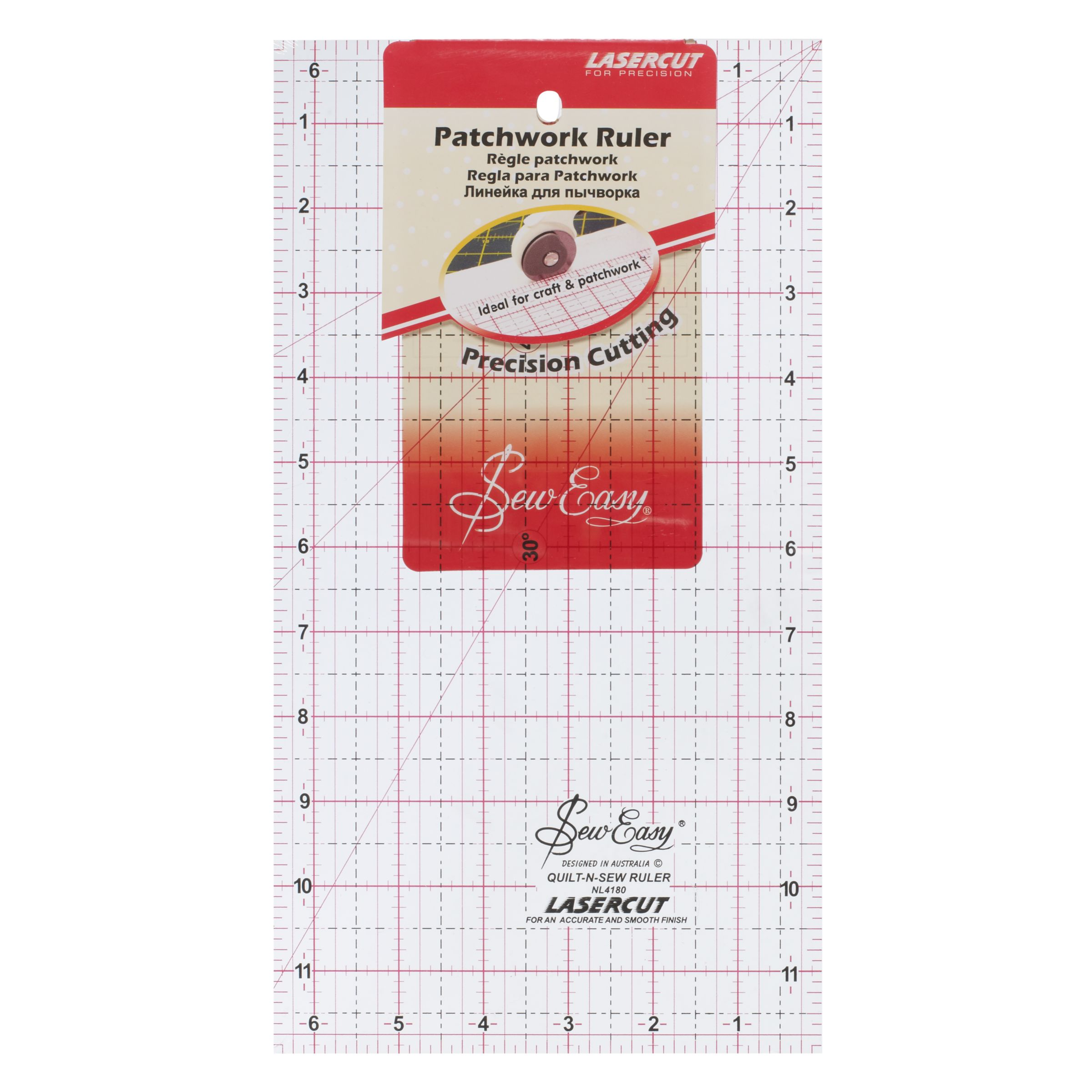 Sew Easy Sew Easy Patchwork Rule, 12 x 6.5