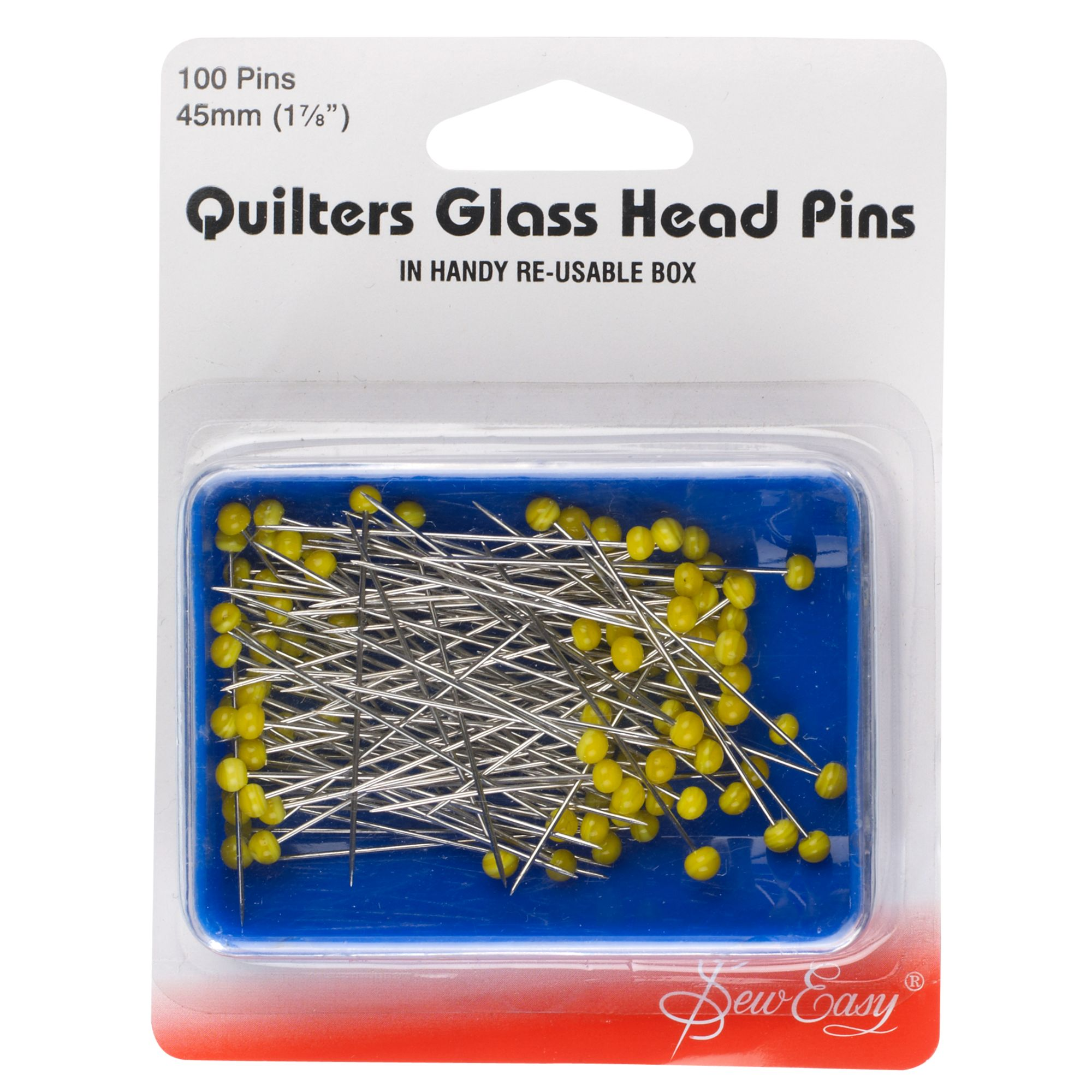 Sew Easy Sew Easy Quilter's Glass Head Pins