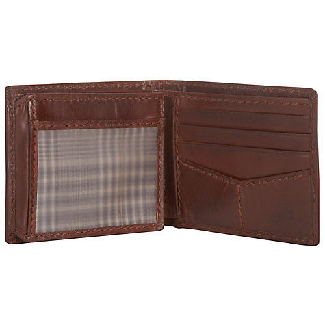 Buy Fossil Carson Leather Wallet, Brown Online at johnlewis.com