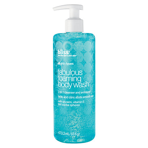 Buy Bliss Fabulous Foaming Body Wash, 473ml Online at johnlewis.com