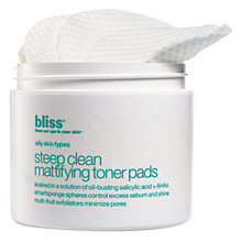 Buy Bliss Steep Clean Mattifying Toner Pads Online at johnlewis.com