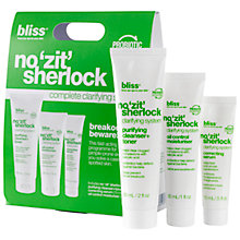 Buy Bliss No Zit Sherlock Complete Clarifying System Online at johnlewis.com