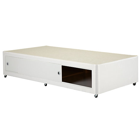 Buy John Lewis The Basics Slide Store Divan Set, Single Online at johnlewis.com