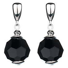 Buy Finesse Jet Swarovski Ball Drop Earrings Online at johnlewis.com