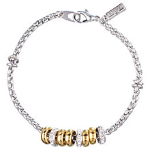 Buy Finesse Swarovski Crystal Plated Charm Bracelet Online at johnlewis.com