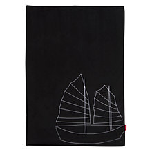 Buy Maclaren Hong Kong Themed Travel Blanket, Black Online at johnlewis.com