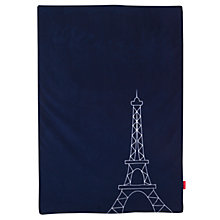 Buy Maclaren Paris Themed Travel Blanket, Navy Online at johnlewis.com