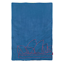 Buy Maclaren SydneyThemed Travel Blanket, Deepwater Online at johnlewis.com