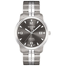 Buy Tissot T0494104406700 PR100 T-Classic Titanium Men's Bracelet Watch Online at johnlewis.com