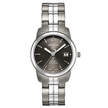 Buy Tissot T0494104406700 Women's PR100 Grey Dial Titanium Bracelet Watch Online at johnlewis.com