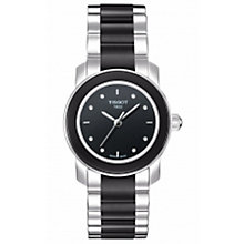 Buy Tissot T0642102205600 Cera T-Trend Women's Bracelet Watch, Silver/Black Online at johnlewis.com