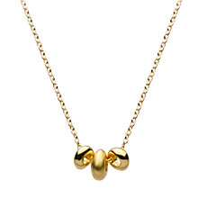 Buy Kit Heath Gold Plated Triple Pebble Necklace Online at johnlewis.com