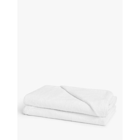 Buy John Lewis Baby Hooded Towels, Pack of 2, White Online at johnlewis.com