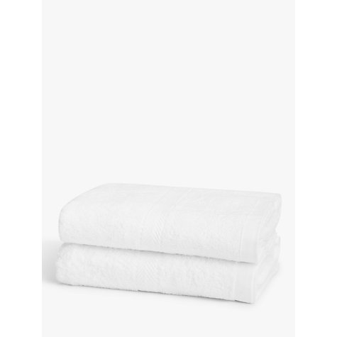 Buy John Lewis Baby Bath Towels, Pack of 2, White Online at johnlewis.com