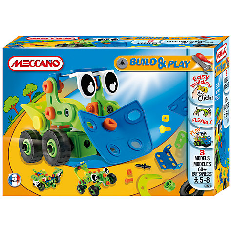 Buy Meccano Build & Play Bulldozer Online at johnlewis.com