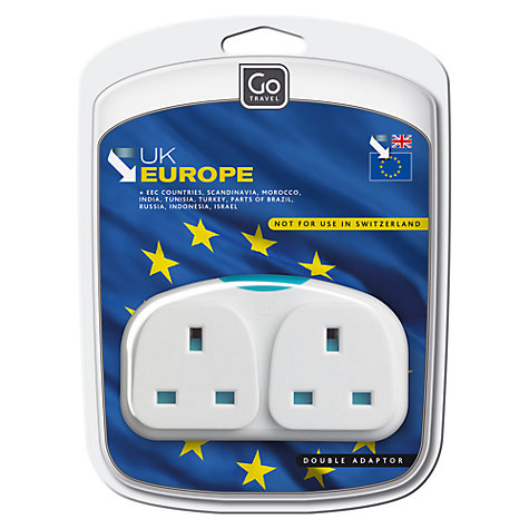Buy Go Travel Adapter Duo, White Online at johnlewis.com