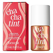 Buy Benefit Chachatint Mango Tinted Lip & Cheek Stain, 12.5ml Online at johnlewis.com