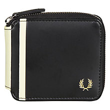 Buy Fred Perry Multi Flip Wallet, Black Online at johnlewis.com