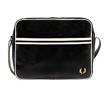 Buy Fred Perry Shoulder Bag, Black Online at johnlewis.com