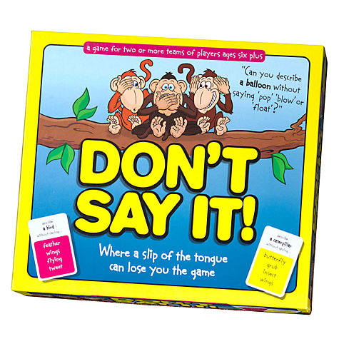 Buy Don't Say It! Game Online at johnlewis.com