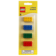 Buy LEGO Brick Erasers, Pack of 4 Online at johnlewis.com