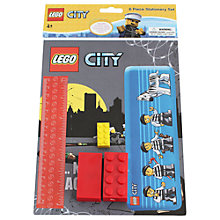 Buy LEGO City 6 Piece Stationery Set, Assorted Online at johnlewis.com