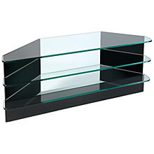 Buy Greenapple Black Glass GL59291HZW Television Stand for TVs up to 47-inch, Flair Online at johnlewis.com