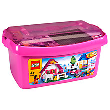 Buy LEGO Large Brick Box, Pink Online at johnlewis.com