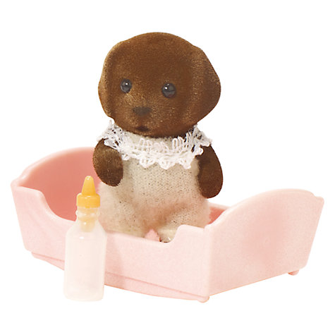 Buy Sylvanian Families Chocolate Labrador Baby Online at johnlewis.com