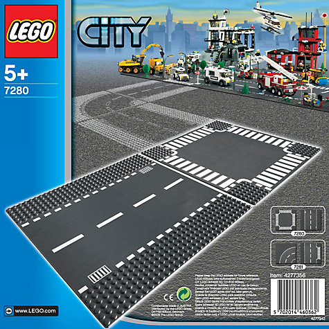 Buy LEGO City Straight and Crossroad Online at johnlewis.com