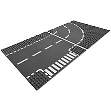 Buy LEGO City T-Junction and Curve Road Plates Online at johnlewis.com