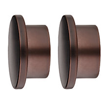 Buy John Lewis Bronze Disc End Finials, Dia.25mm, Set of 2 Online at johnlewis.com