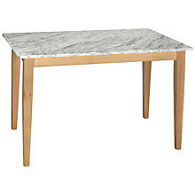 Buy HND Katrina 6 Seater Rectangular Dining Table, Carrara Online at johnlewis.com