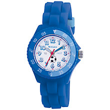 Buy TikkersTK0002 Children's Time Teacher White Dial Rubber Strap Watch, Blue Online at johnlewis.com