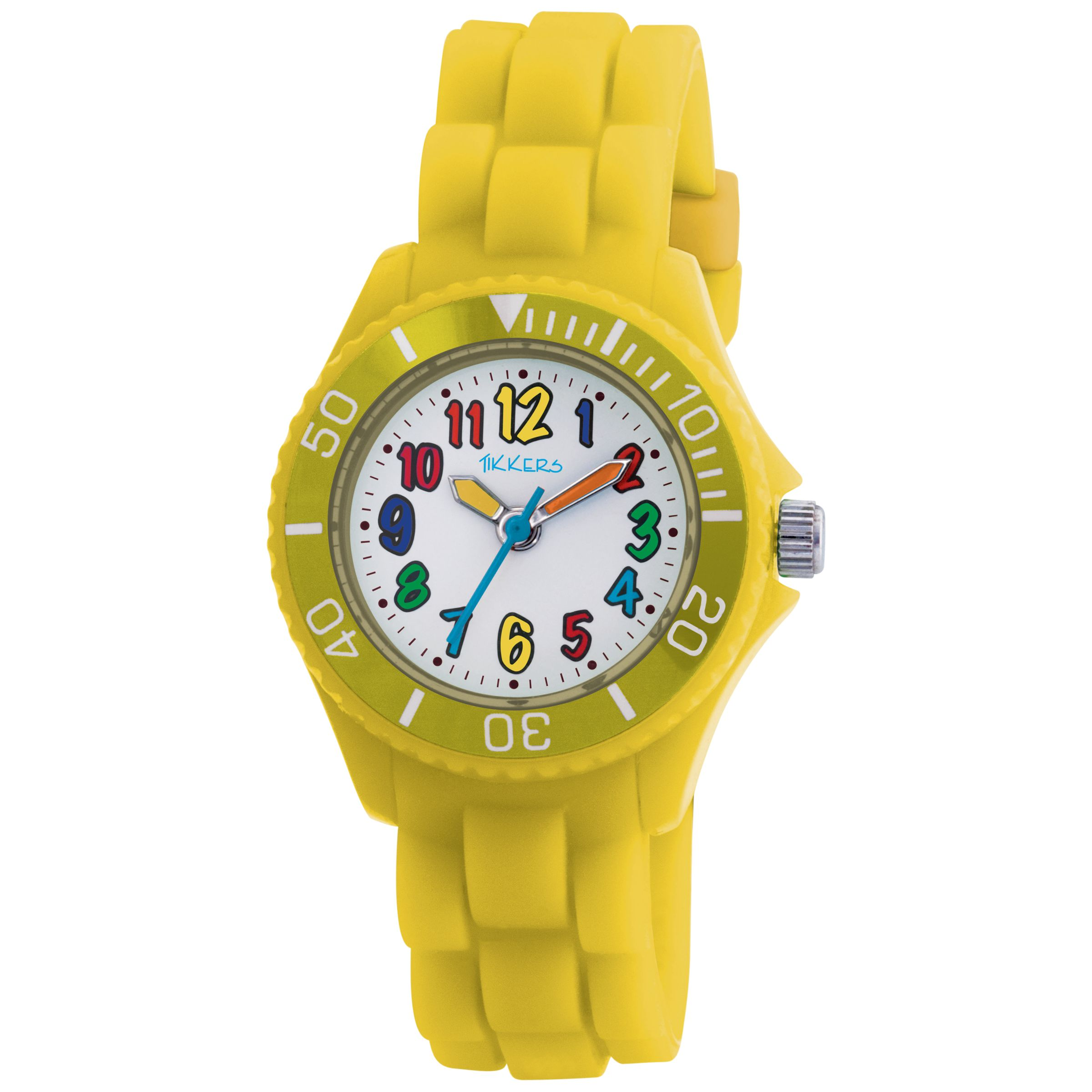 Tikkers TK0013 Kids Rubber Strap Watch, Yellow