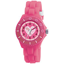 Buy Tikkers TK0023 Children's Heart Rubber Strap Watch, Pink Online at johnlewis.com