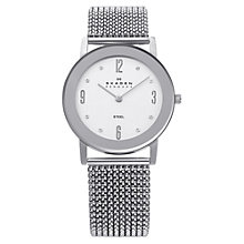 Buy Skagen 39LSSS1 Women's Stainless Steel Stretch Mesh Band Watch Online at johnlewis.com