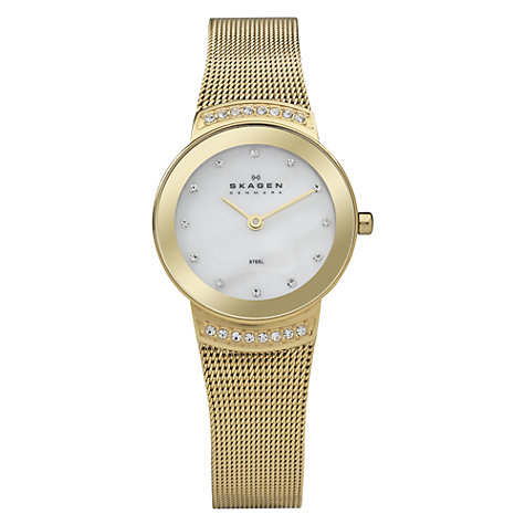 Buy Skagen 812SGG Women's Gold Round Bracelet Watch Online at johnlewis.com