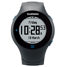 Buy Garmin Forerunner 610 GPS Running Watch with Premium Heart Rate Monitor Online at johnlewis.com