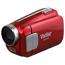 "Buy Vivitar DVR 538 Camcorder, 4GB, 2.4"" LCD Screen, Red Online at johnlewis.com"