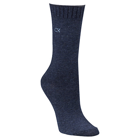 Buy Calvin Klein Soft Touch Crystal Logo Socks, Black Online at johnlewis.com