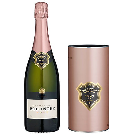 Buy Bollinger Rose Ice Tube Champagne Gift Online at johnlewis.com